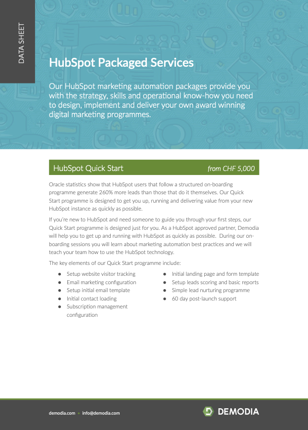 Hubspot Marketing Automation Services Packages