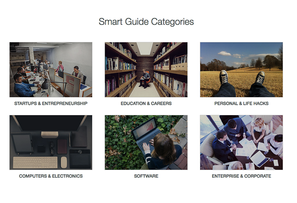 Guides.co Smart Guide Categories