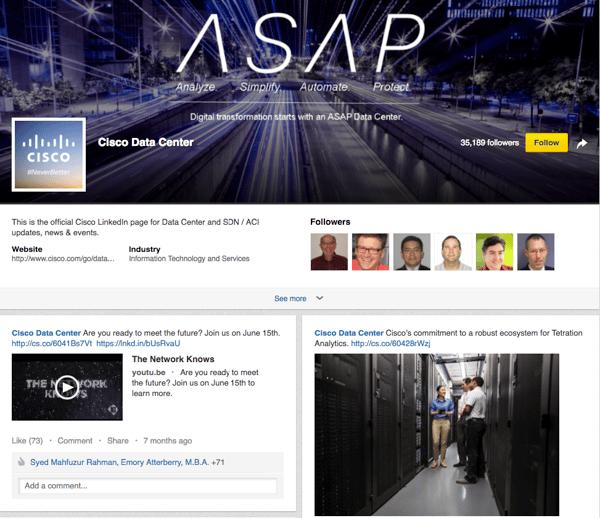 CISCO Linkedin Showcase Page