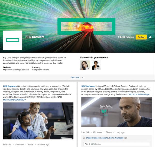 HP Linkedin Showcase Page