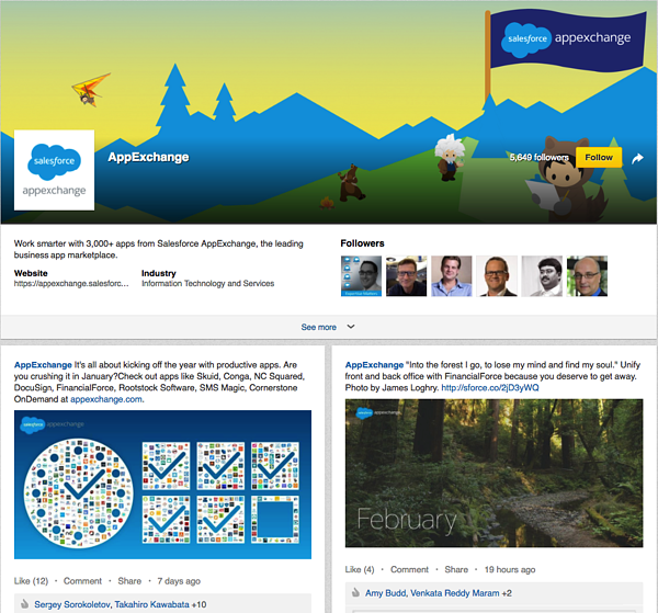 Salesforce Linkedin Showcase Page
