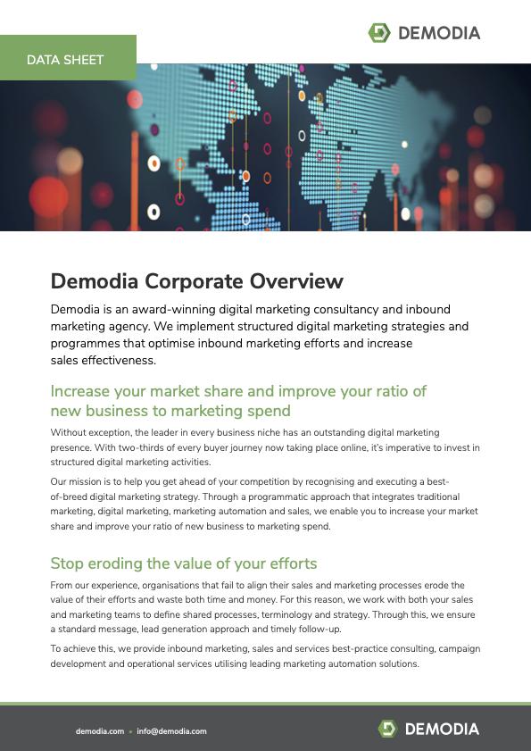 Demodia Unternehmensübersicht