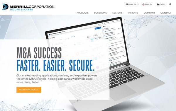 Merrill Corporation home page